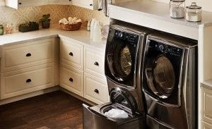 LG Sidekick dual washer with secondary basin for small loads